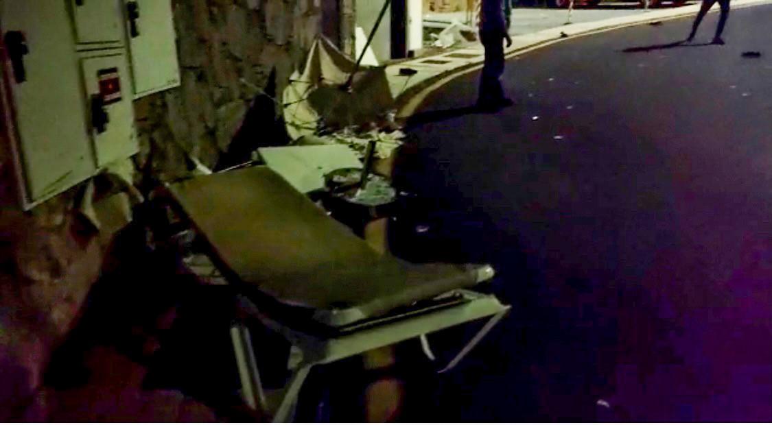 Imagen de los destrozos ocasionados en apartamentos de Puerto Rico. /C7